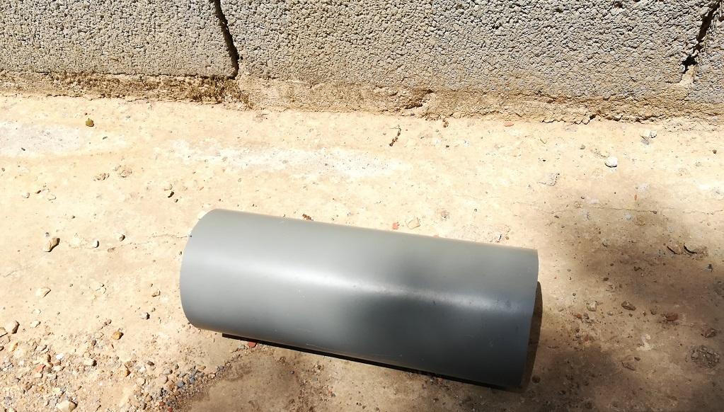 Morceau tuyaux PVC de 25 cm