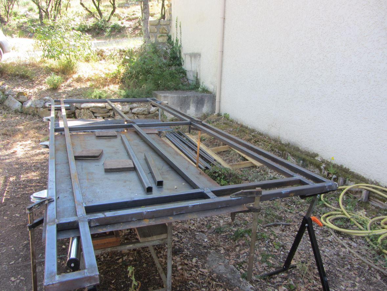 Fabrication du vantail terminée