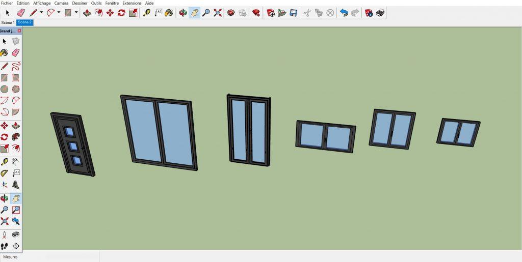 Modèles de menuiseries 3D