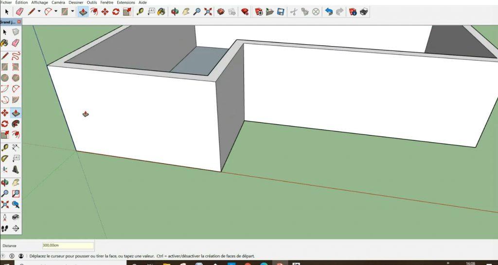 Élévation des murs périphérique de 300 cm