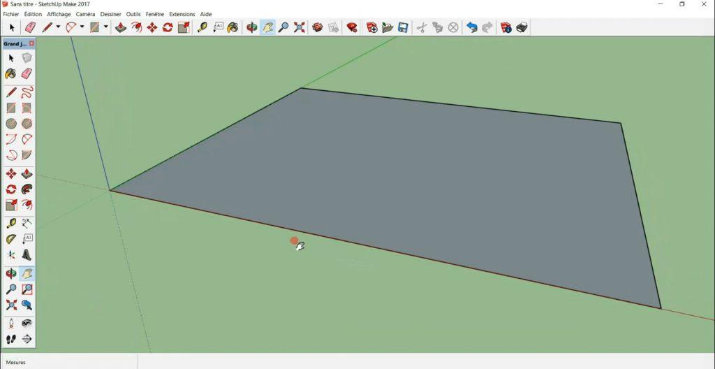 je déplace mon rectangle dans l'espace du modèle