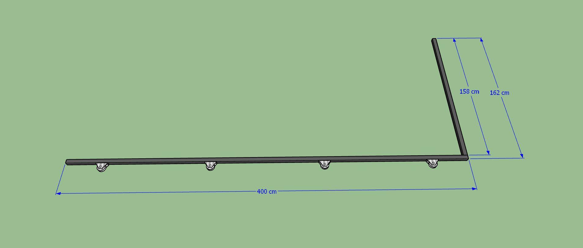 Traverse de base + traverse verticale droite