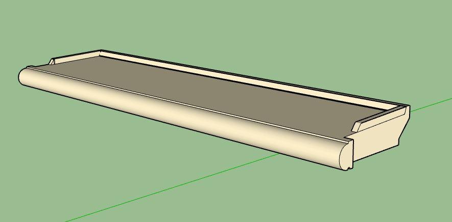 Fichier .Skp appuis de fenêtre 3D 140 cm