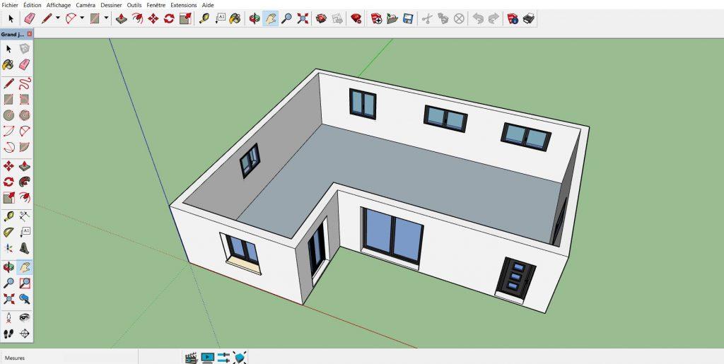 """Modéle SketchUp """"Maison 3D 4"""