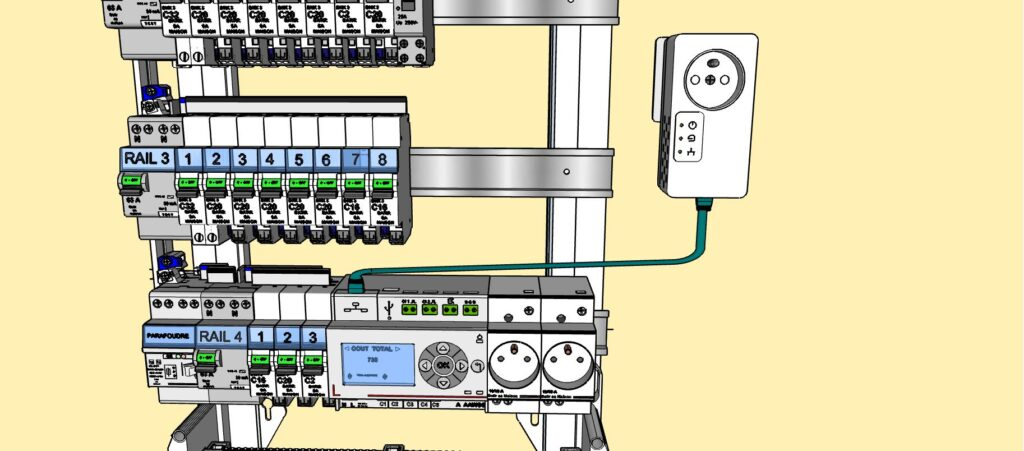 Connection Eco-compteur et prise CPL