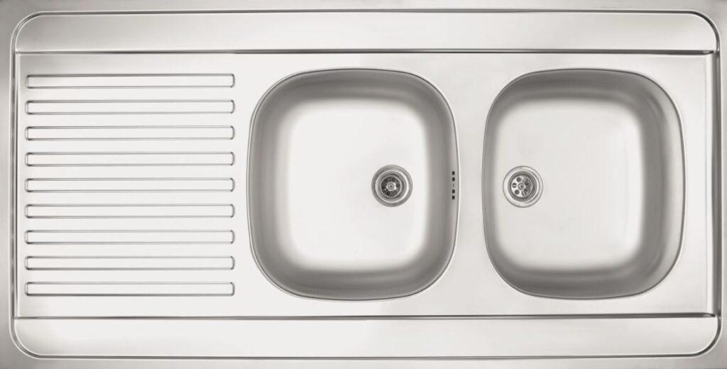 Evier Inox sans trou pour le robinet