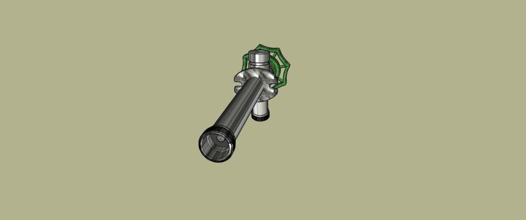 extrémité du tuyau du robinet