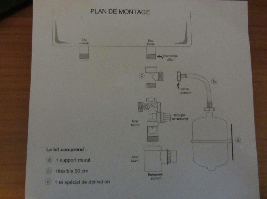 Plan de montage du kit de fixation