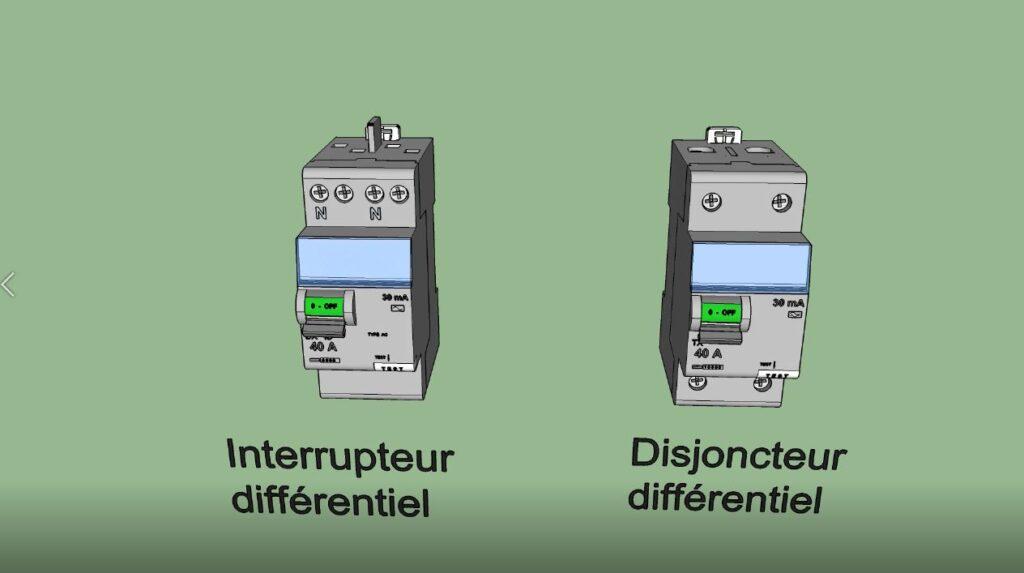 Interrupteur et Disjoncteur différentiels