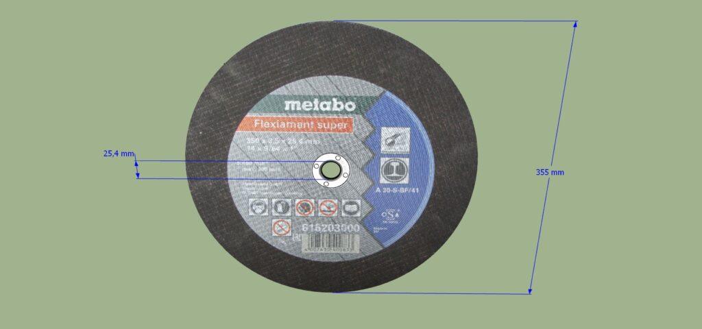 Meule de tronçonnage Flexiamant Metabo