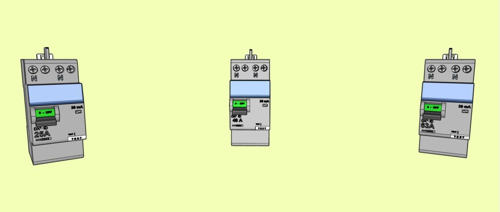 Calibres des interrupteurs différentiels