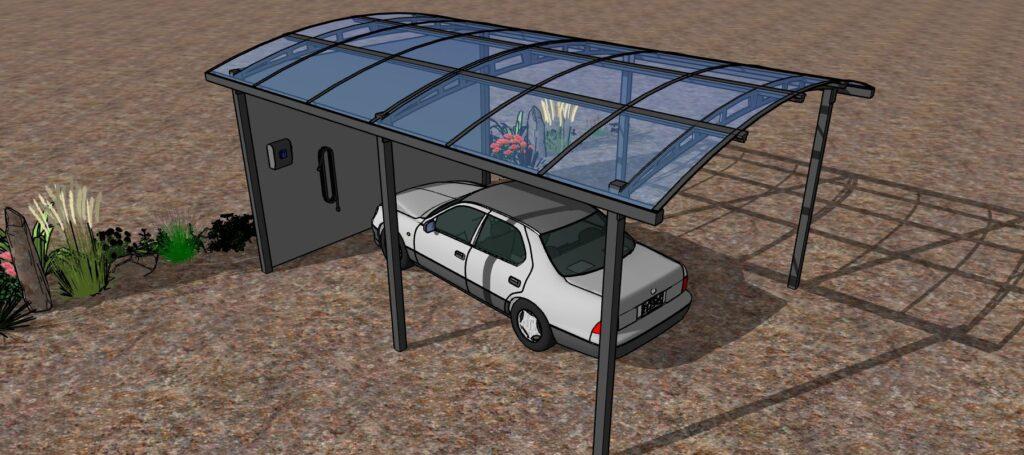 Car-port  prise de recharge