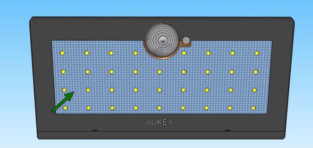 Panneau lumineux de 38 LEDS