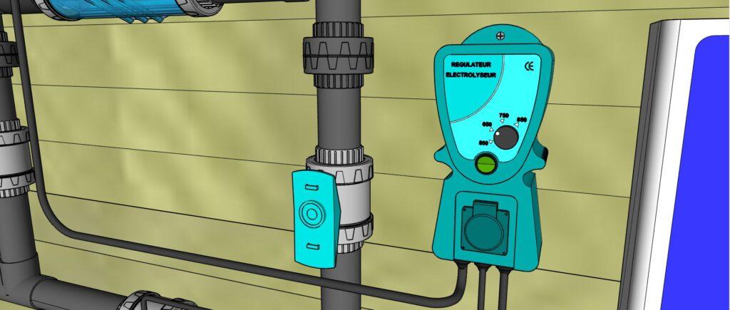 Régulateur Electrolyseur de sel