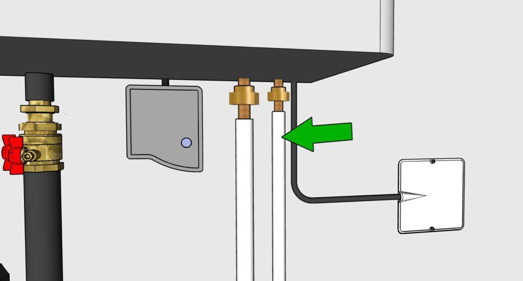 Arrivée et départ gaz frigorigène unité intérieure