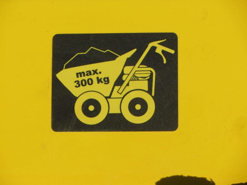La charge maximale est de 300 Kg
