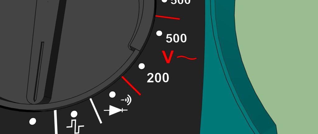 Plage Voltmètre courant alternatif