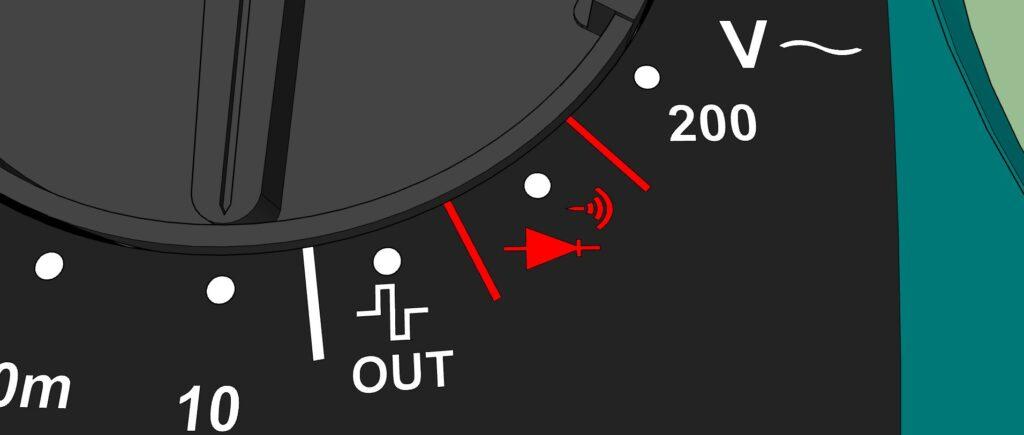 Plage Test continuité, vérification des diodes