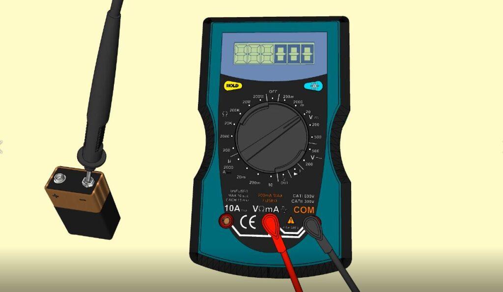 Sonde noire borne moins batterie