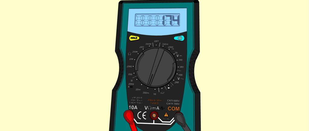 L'ampèremètre donne la valeur 174 mA