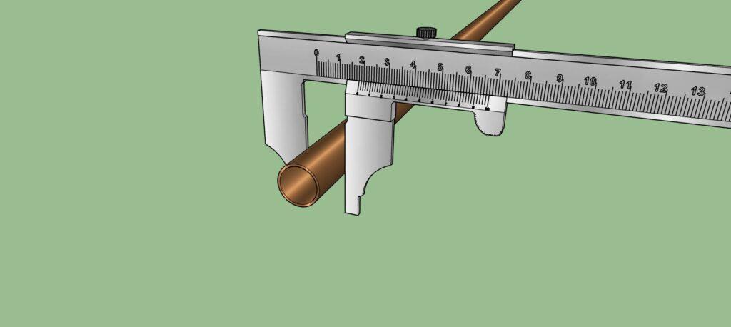 Mesure extérieure d'un tuyau