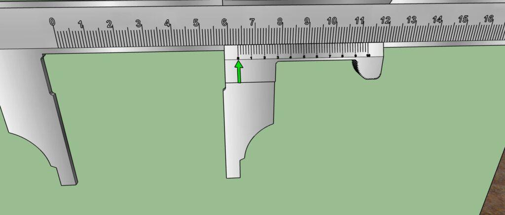 Lecture des millimètres