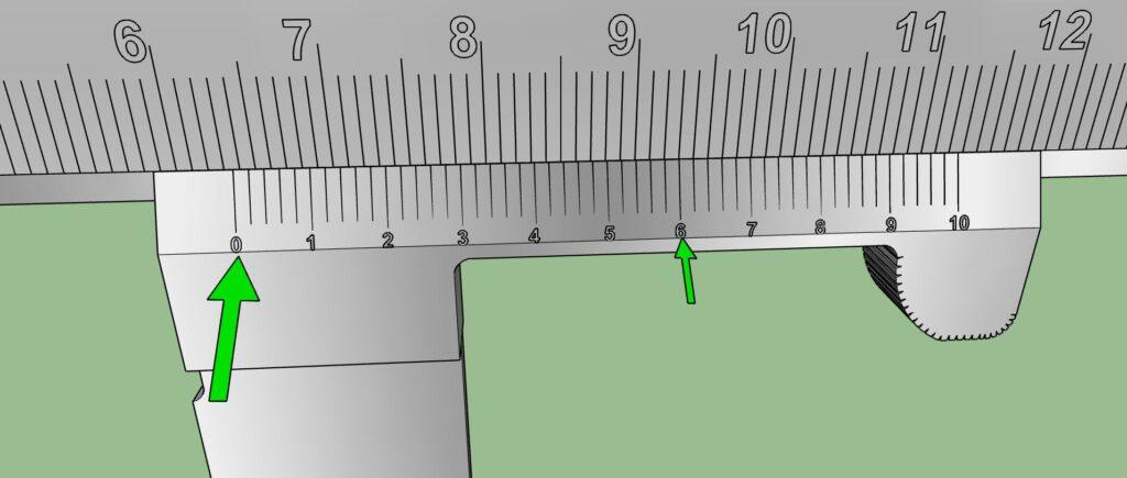 Lecture des millimètres et dixièmes de millimètres