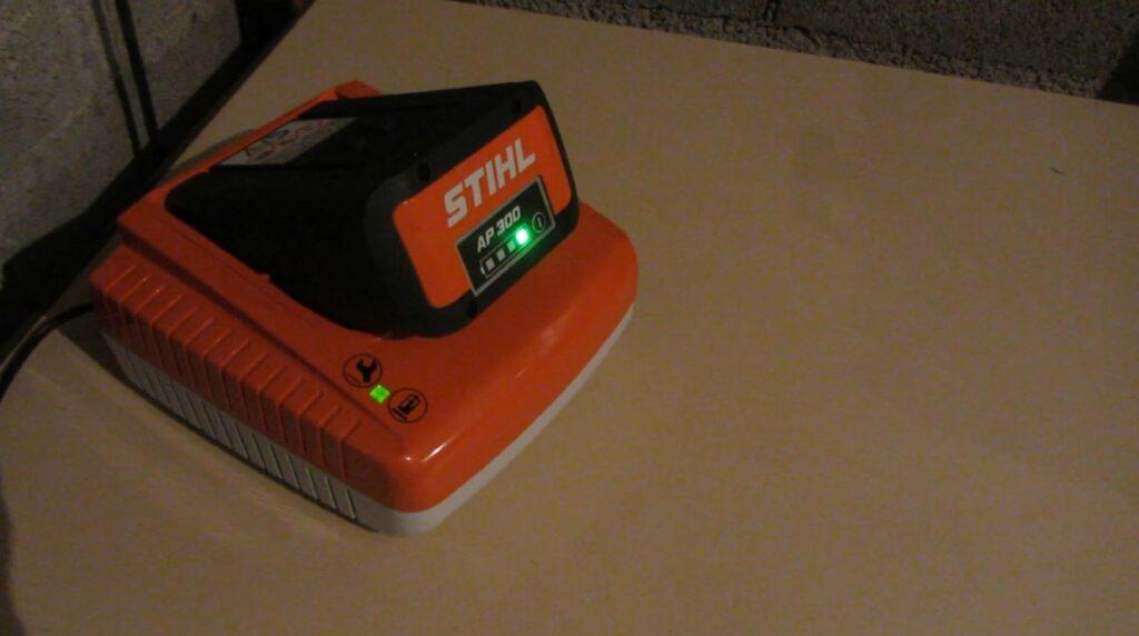 Batterie en charge